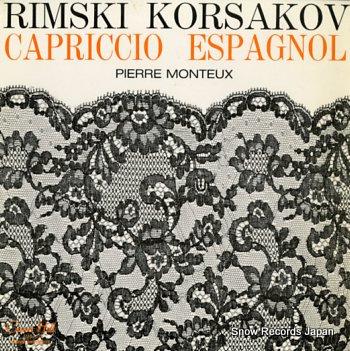 MONTEUX, PIERRE korsakov; capriccio espagnol