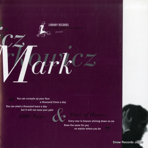 NARKOWICZ, MARK 1000 tears SHHH007 - front cover