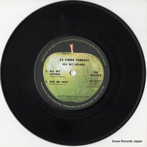 BEATLES, THE all my loving AP-4571 - disc