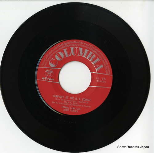 LAINE, FRANKIE, WITH JIMMY CARROLL gunfight at the o.k. corral LL-65 - disc