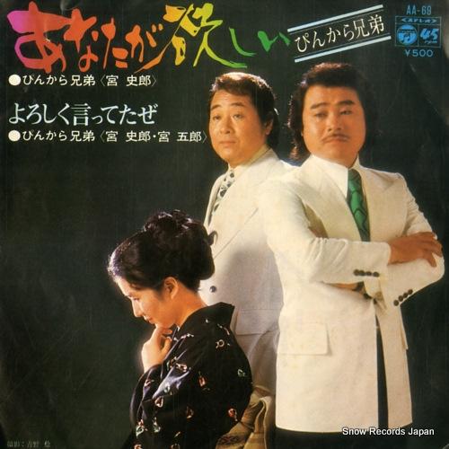 PINKARA KYODAI anata ga hoshii AA-69 - front cover