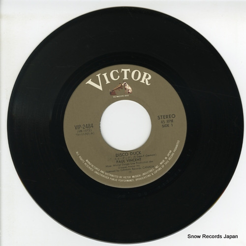VINCENT, PAUL disco duck VIP-2484 - disc
