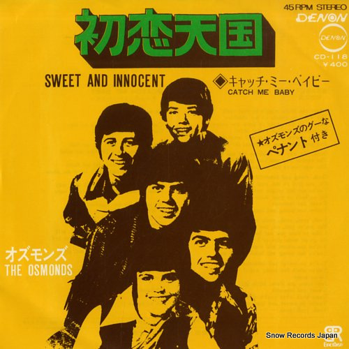 OSMONDS, THE sweet and innocent CD-118 - front cover