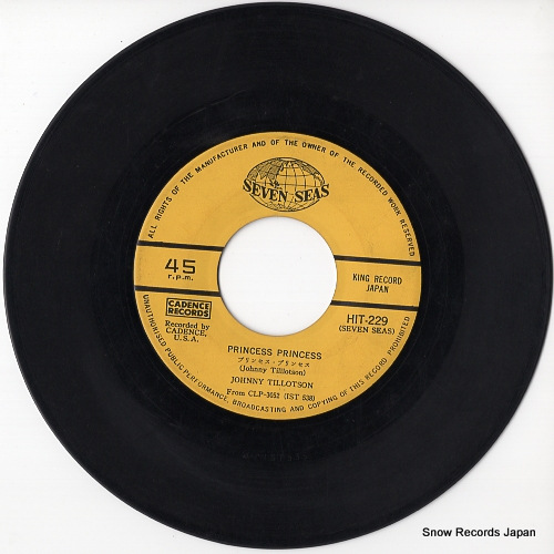 TILLOTSON, JOHNNY princess princess HIT-229 - disc
