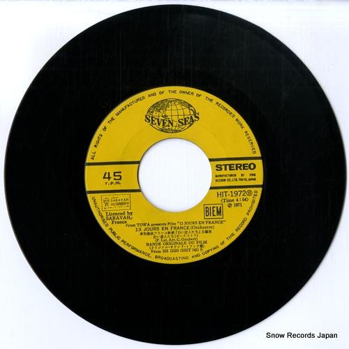 LAI, FRANCIS 13 jours en france(orchestre) HIT-1972 - disc