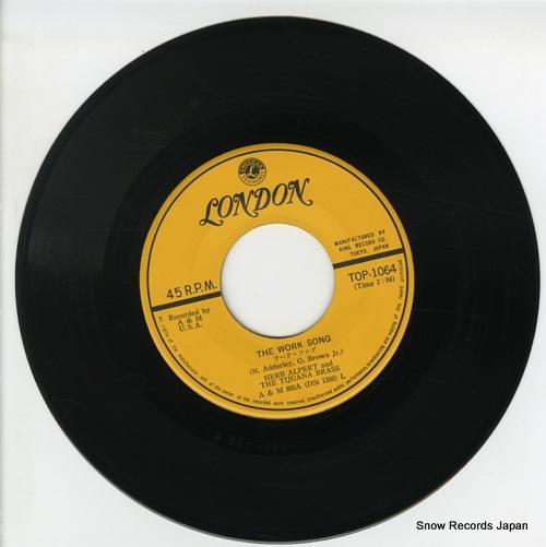 ALPERT, HERB, AND THE TIJUANA BRASS the work song TOP-1064 - disc