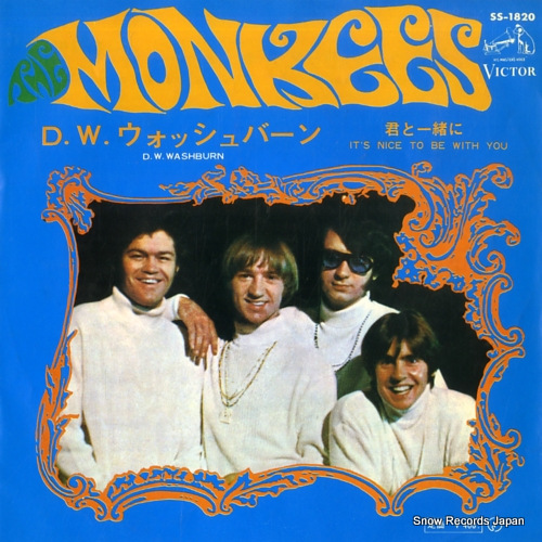 MONKEES, THE d.w. washburn SS-1820 - front cover