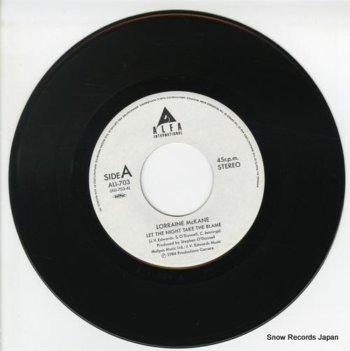MCKANE, LORRAINE let the night take the blame ALI-703 - disc