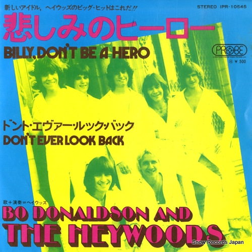 HEYWOODS, THE bill don't be a hero IPR10545 - front cover
