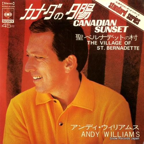 アンディ・ウィリアムス カナダの夕陽 SONG80143
