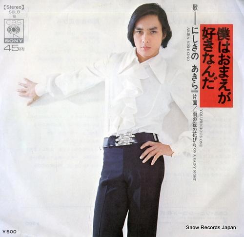 NISHIKINO, AKIRA you, precious one SOLB8 - front cover