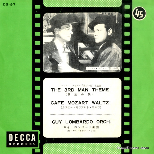 LOMBARDO, GUY AND HIS ROYAL CANADIANS the 3rd man theme DS-97 - front cover