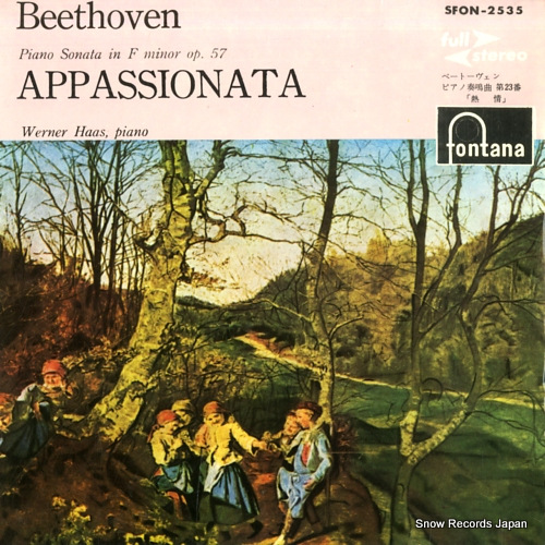 HAAS, WERNER beethoven; sonata in f minor