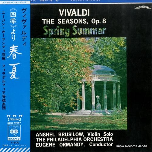 ORMANDY, EUGENE vivaldi; the seasons, op.8 spring summer SONO40087 - front cover