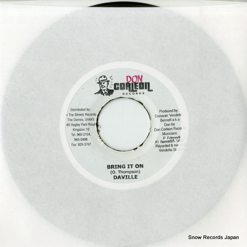 DA'VILLE bring it on DSRASIDE-2774 - front cover