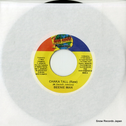 BEENIE MAN chaka tall(raw) FL0506 - front cover