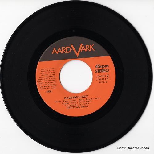 クリスタルキング - passion-lady(英語盤) - 7A0101 - レコード通販 ...