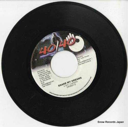 CRISSY D share my dreams DSRASIDE-728 / FFSM0041 - disc