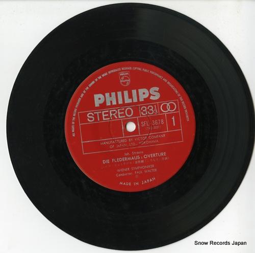 WALTER, PAUL strauss; die fledermaus overture SFL-3678 - disc