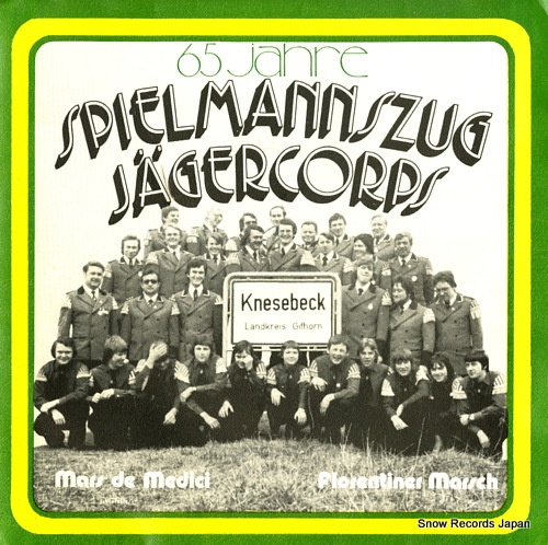 SPIELMANNSZUG JAGERCORPS KNESEBECK mars de medici WS130376 - front cover