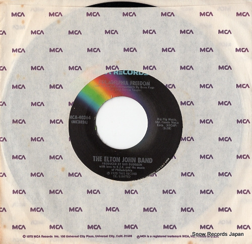 JOHN, ELTON, BAND, THE philadelphia freedom MCA-40364 - front cover