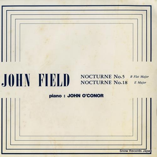 O'CONOR, JOHN john field; nocturne no.5 b flat major STV-1001 - front cover