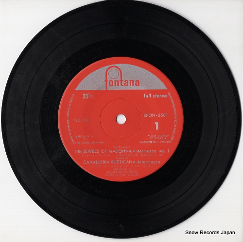 WALTER, PAUL wolf-ferrari; the jewels of madonna -intermezzo no.1 SFON-2501 - disc
