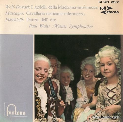 WALTER, PAUL wolf-ferrari; the jewels of madonna -intermezzo no.1 SFON-2501 - front cover