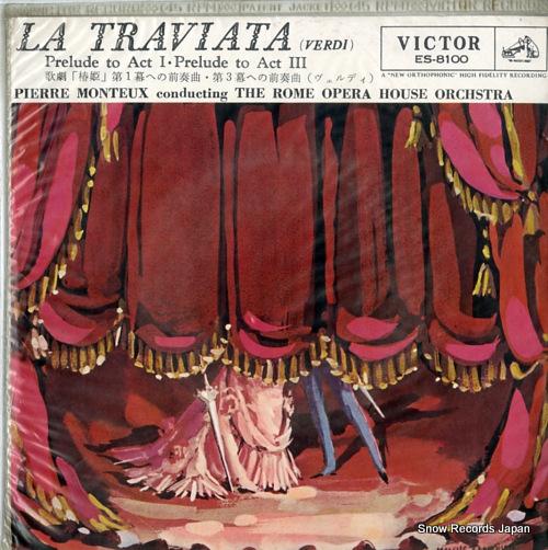 MONTEUX, PIERRE verdi; la traviata ES-8100 - front cover