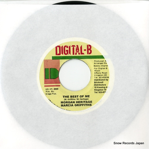 HERITAGE, MORGAN / MARCIA GRIFFITHS the best of me DSRASIDE-7901 - front cover