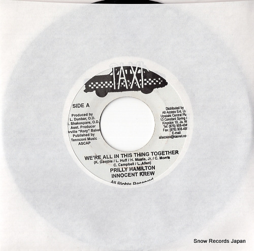 HAMILTON, PRILLY / INNOCENT KREW we're all in this ting together TR003 - front cover
