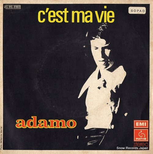 ADAMO c'est ma vie SC010-81.900 - front cover