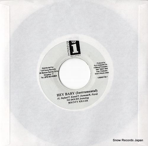 KILLER, BOUNTY hey baby(album version) DSRBSIDE-3368 - back cover