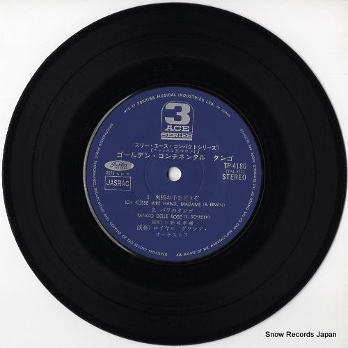 ROYAL GRAND ORCHESTRA golden continental tango TP-4186 - disc