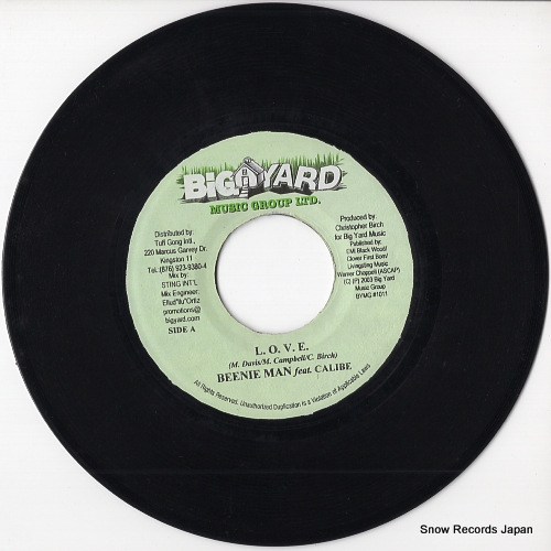BEENIE MAN l.o.v.e. BYMG-1011 / BYMG-1019 - disc