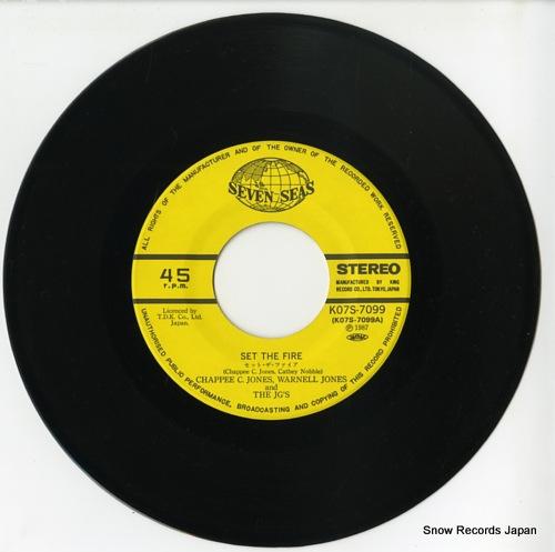 JONES, CHAPPEE C., WARNELL JONES AND THE JG'S set the fire K07S-7099 - disc