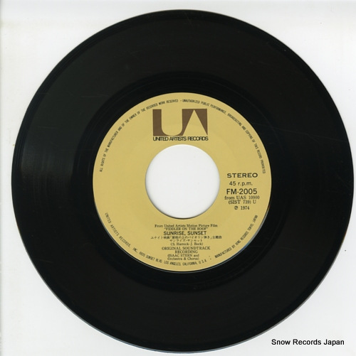 STERN, ISAAC sunrise sunset FM-2005 - disc