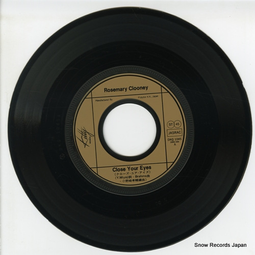 CLOONEY, ROSEMARY close your eyes DKQ1045 - disc