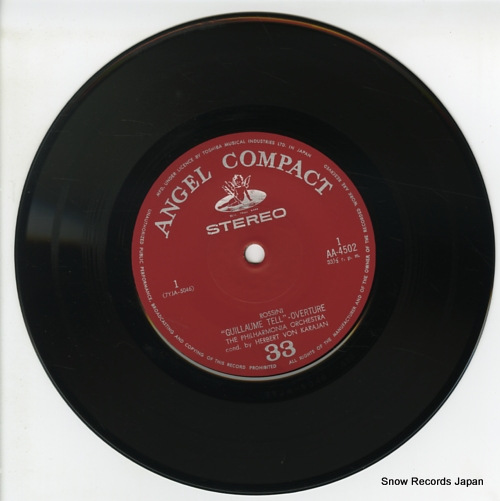 KARAJAN, HERBERT VON rossini; guillaume tell overture AA-4502 - disc