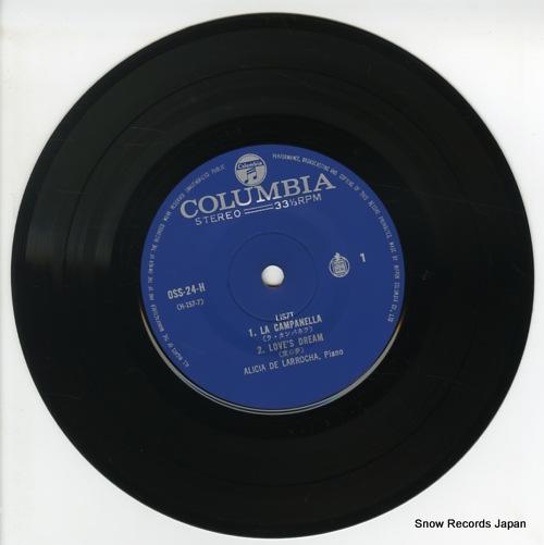 DE LARROCHA, ALICIA liszt; la campanella OSS-24-H - disc