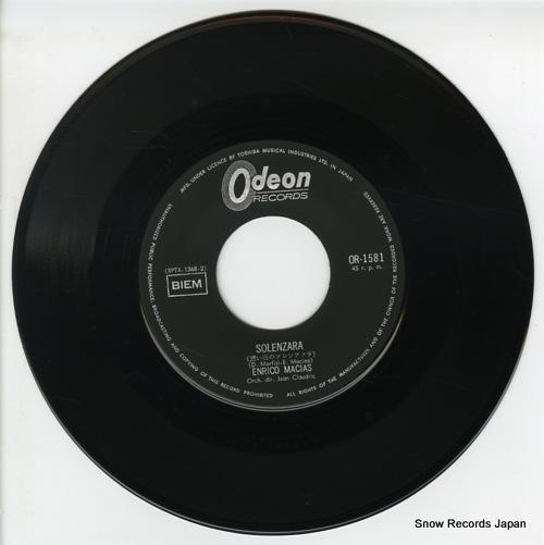 MACIAS, ENRICO solenzara OR-1581 - disc