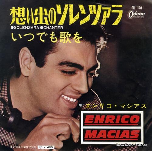 MACIAS, ENRICO solenzara OR-1581 - front cover