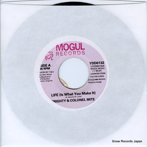 FRIGHTY, AND COLONEL MITE life(is what you make it) YDD0132 - front cover