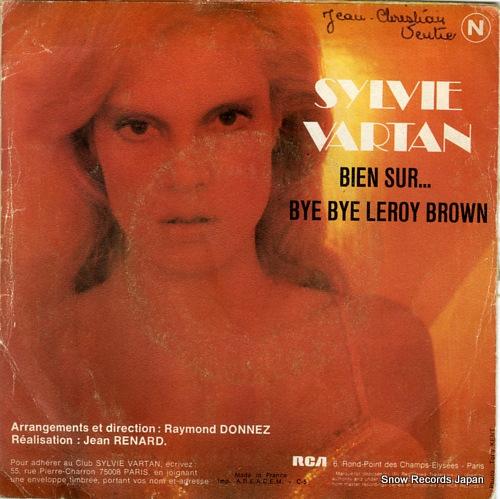 VARTAN, SYLVIE bye bye leroy brown FPBO0032 - back cover