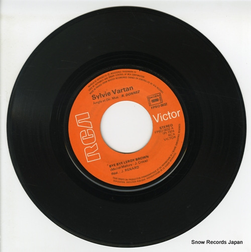 VARTAN, SYLVIE bye bye leroy brown FPBO0032 - disc