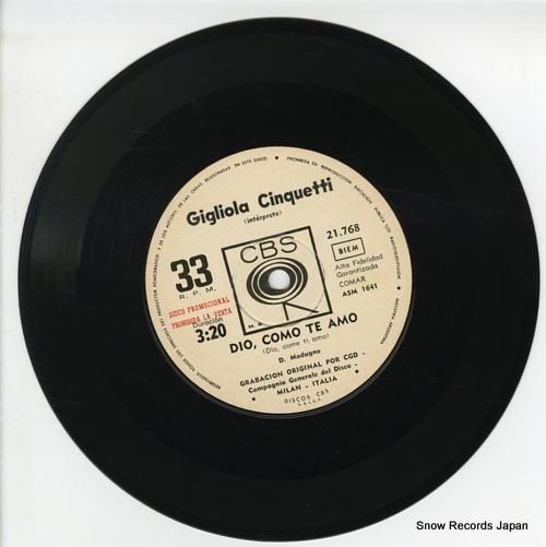 CINQUETTI, GIGLIOLA dio como te amo ASM1641 / 21.768 - disc