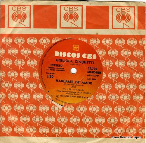 CINQUETTI, GIGLIOLA el bimbo ASS2078 / 22.732 - back cover