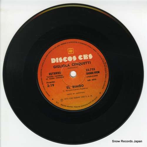 CINQUETTI, GIGLIOLA el bimbo ASS2078 / 22.732 - disc