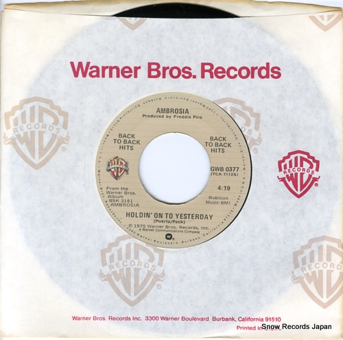 AMBROSIA holdin' on to yesterday GWB-0377 - front cover
