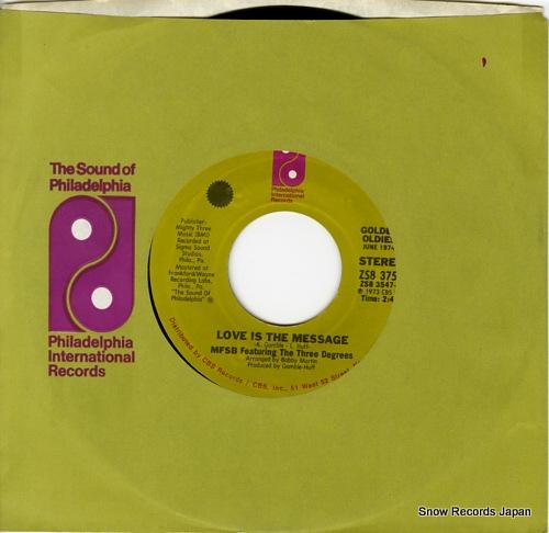 ボビー・マーチン&MFSBとスリー・ディグリース love is the message ZS83756